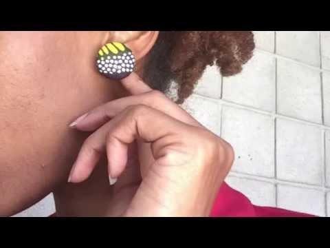 EASY Ankara Fabric Earrings Tutorial