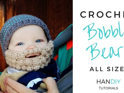 Easy Crochet Beard Tutorial (Free Bobble Beard Pattern All Sizes by Ashlee Marie)