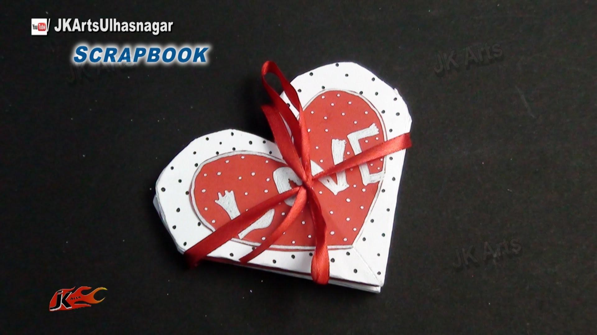 Easy Scrapbook Greeting card Tutorial   Valentine's day   JK Arts 862