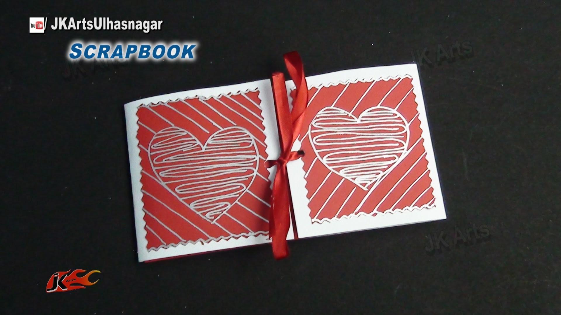 Easy Scrapbook Greeting card Tutorial | Valentine's day | JK Arts 863