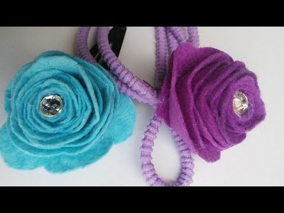 Felt Flower Craft Tutorial | Hair bands and Hair clips | HandiWorks #40