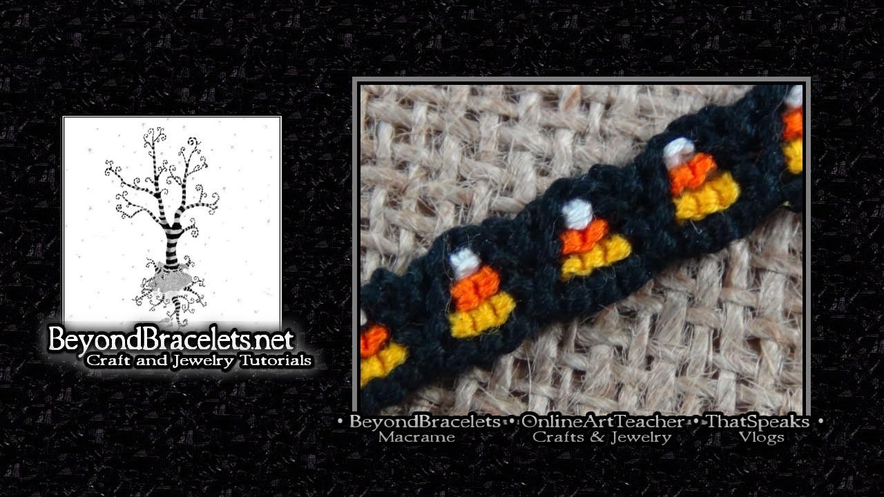 ♦ Halloween Bracelet ♦ Candy Corns ♦ Original ♦