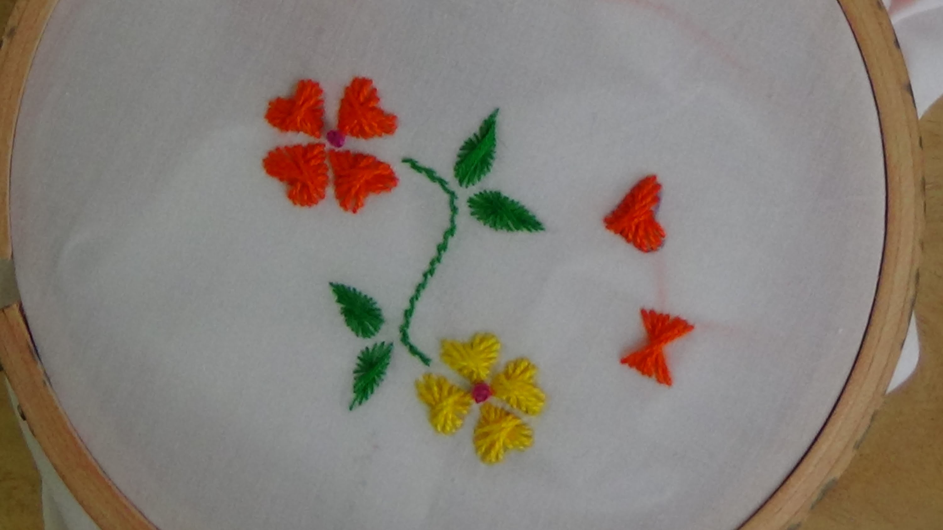 Hand Embroidery: Butterfly Flower Stitch