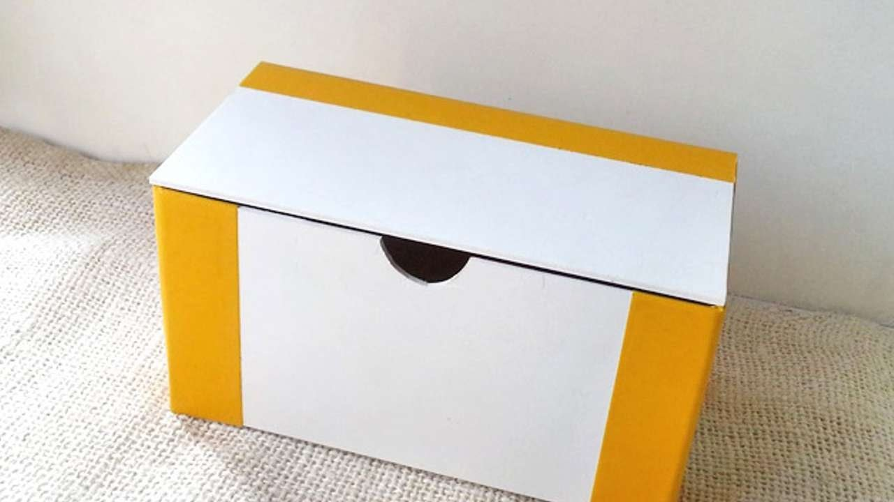 How To Create Foam Board Box With Lid - DIY Crafts Tutorial - Guidecentral