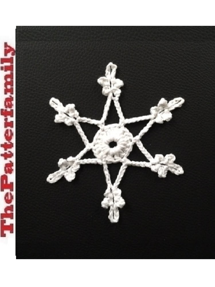 How to Crochet a Snowflake Pattern #17│by ThePatterfamily