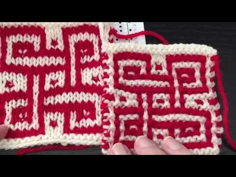 How to Knit Mosaic Stitch in Stockinette st