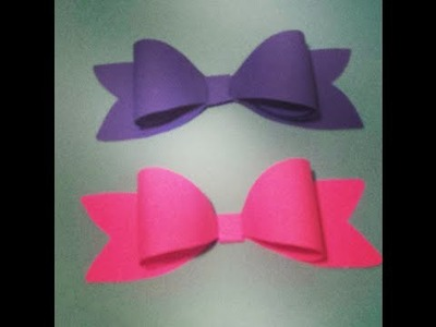 How to make a bow DIY paper craft tutorial