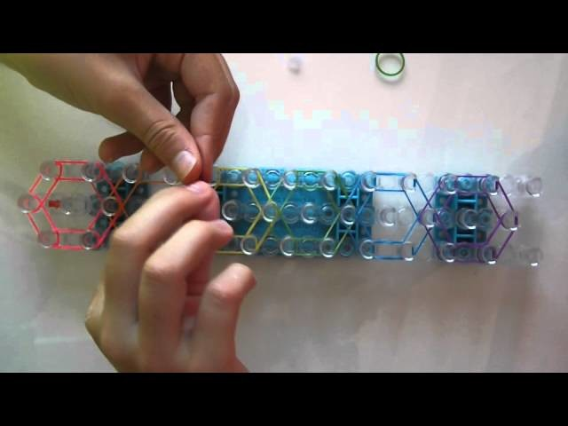 How To Make The Honeycomb Bracelet On The Rainbow Loom | Craft Chick