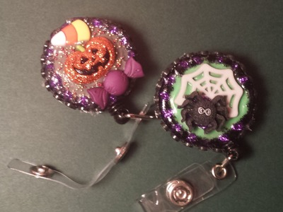 ID Badge Holder Tutorial #6: Halloween Pumpkin