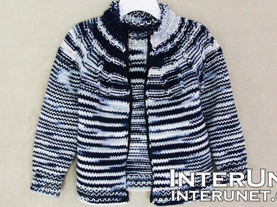 Jacket knitting pattern - knit a jacket for a child