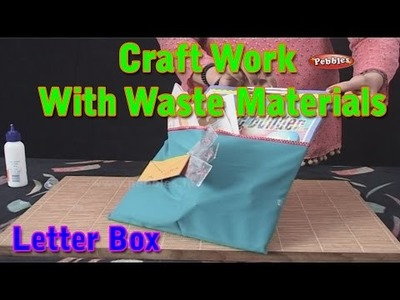 Letter Box | Craft Work With Waste Materials | Learn Craft For Kids | Waste Material Craft Work