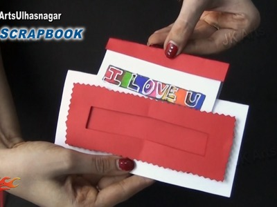 Magic Scrapbook Greeting card Tutorial | Valentine's day | JK Arts 864