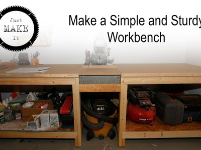 Make a Simple and Sturdy 2x4 Workbench