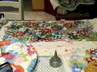 Mixed Media Art Cloths: Recycled Dryer Sheet Art Part Two