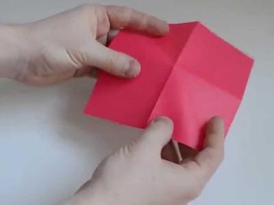 Fold origami flapping bird craft tutorial origami flapping bird origami flower rose mightylinksfo