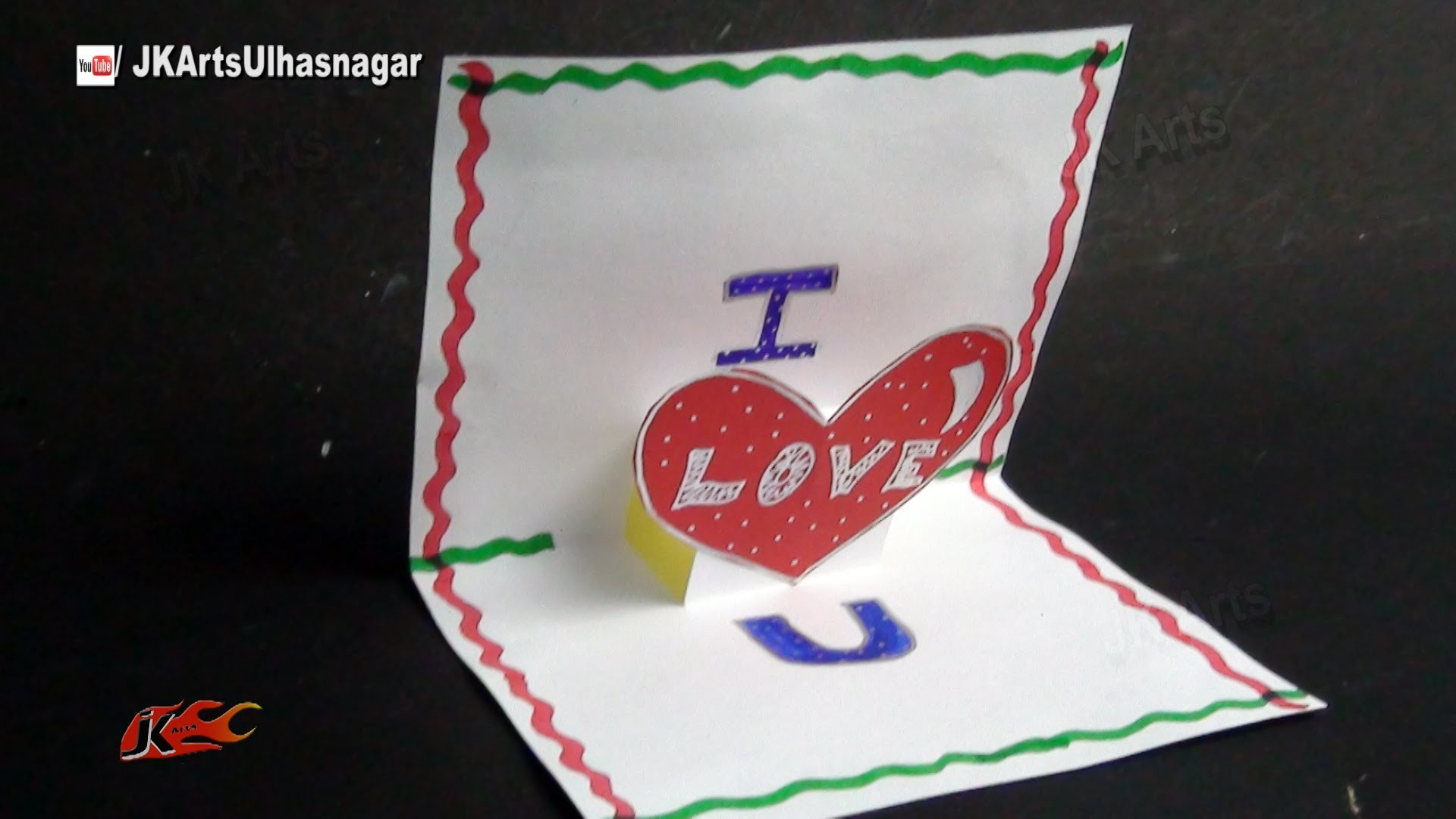 PopUp Scrapbook Greeting card Tutorial | Valentine's day | JK Arts 865