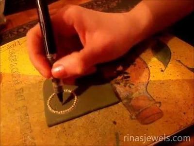 Pumpkin seeds and wheat grains in handmade jewelry