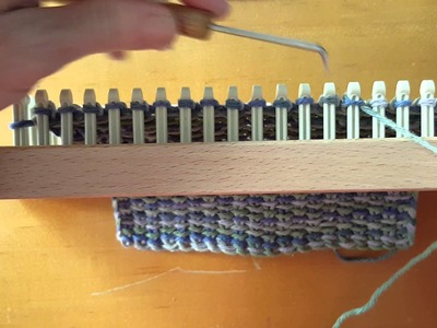 Quick and Easy Linen Stitch on Loom