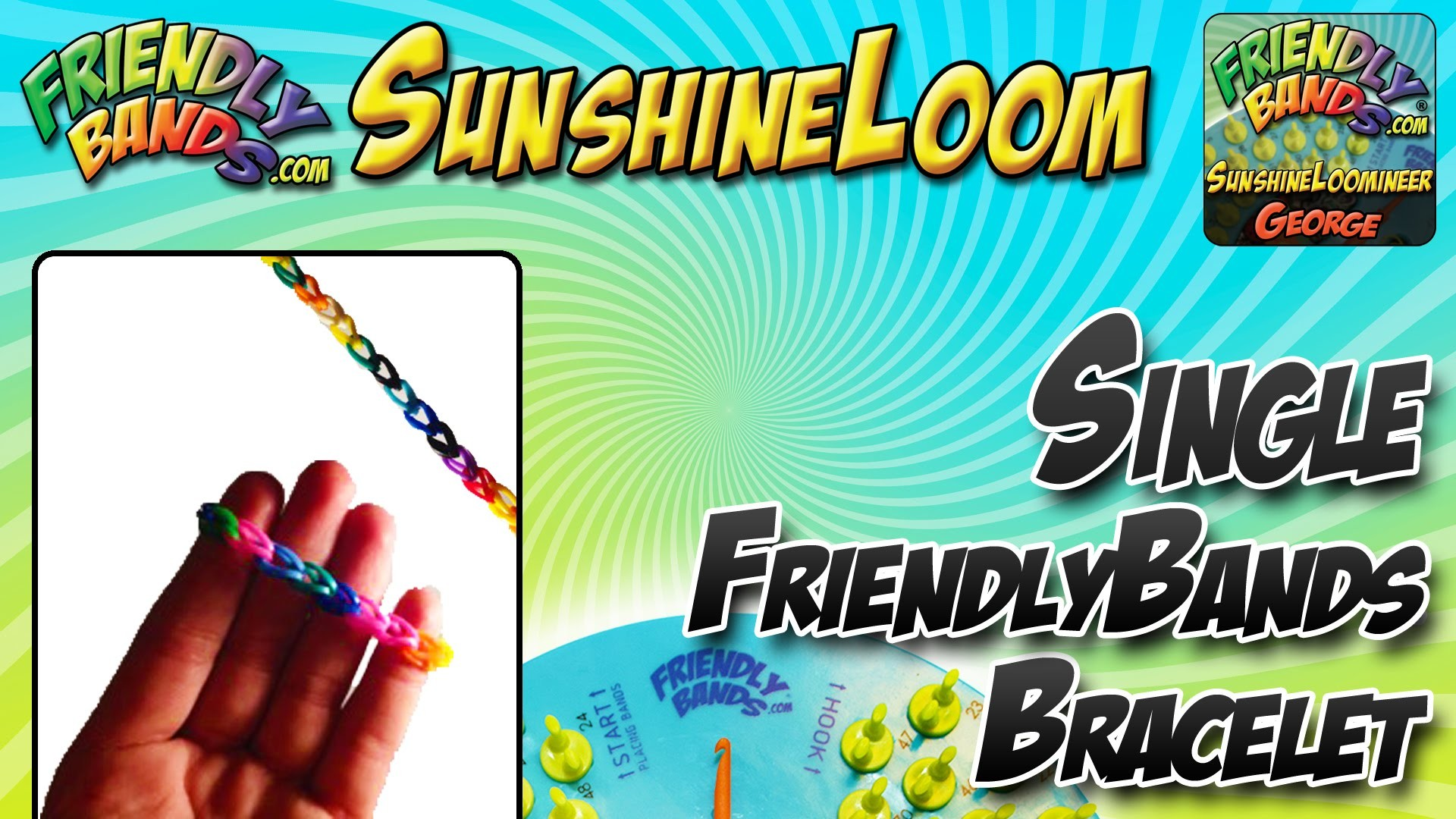 Single band Bracelet Tutorial! | Sunshine Loom
