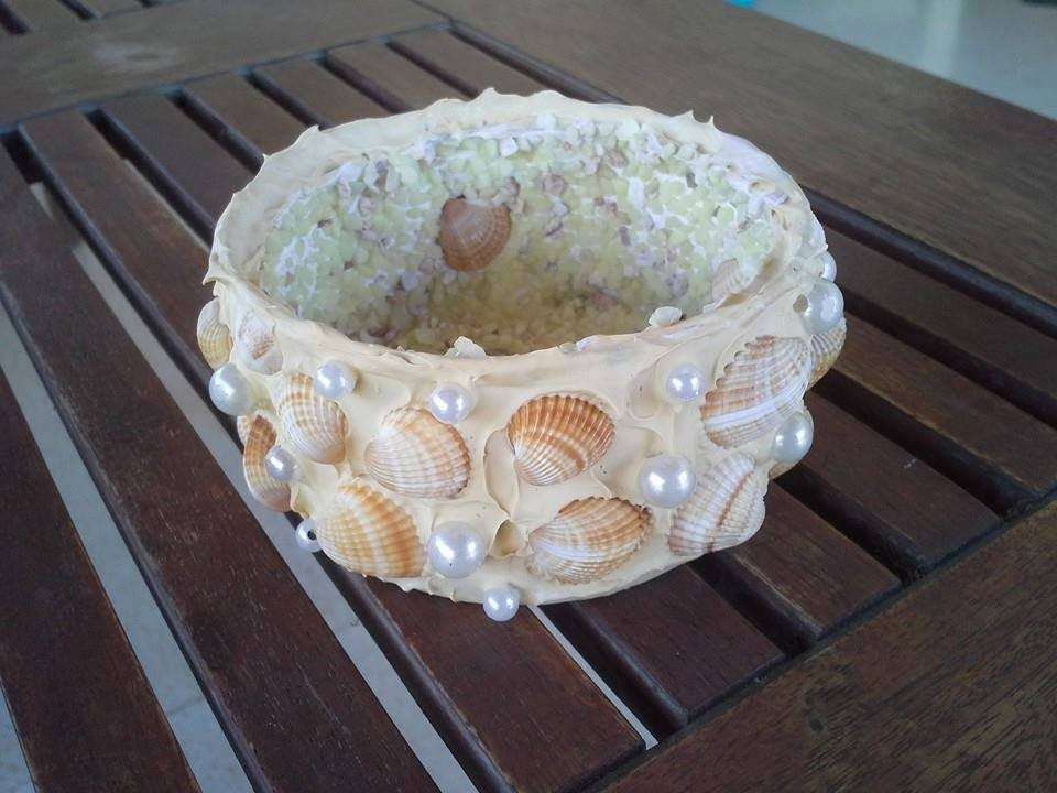 Upcycled tuna tins Tutorial video no. 2 - Sea shells candle holders