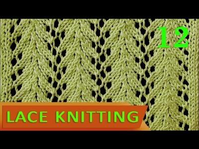 Vine   Lace Knitting Stitch #12 - Easy