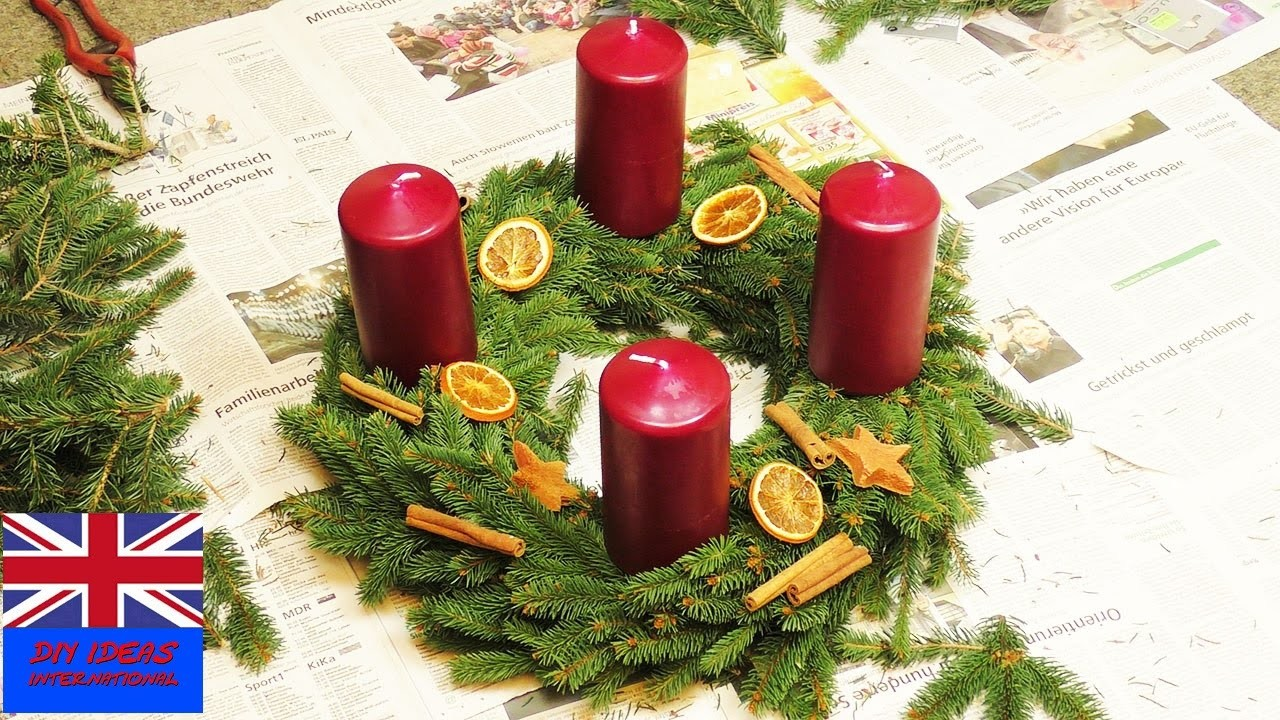 Wreath Christmas. Tutorial: How to make a Christmas wreath with candles?