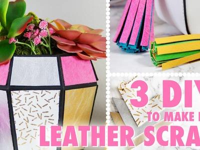 3 DIYs to Make From Leather Scraps | @karenkavett