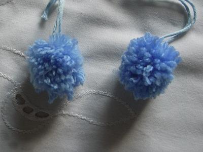DIY Bommel Pompons aus Wolle* Pom Pom Maker Tutorial Handarbeit*