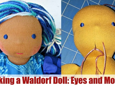 DIY | Embroidering Eyes and Mouth (Waldorf Doll) | Classic Sami Doll Pattern | Part 4