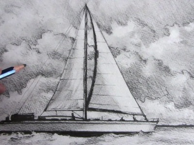 How to Draw a Boat: Sailing Boat