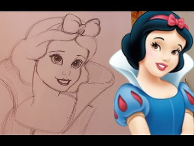 How to Draw SNOW WHITE from Disney's Snow White - @DramaticParrot