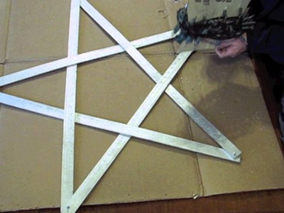 How to make a simple Yardstick Light-Up Star