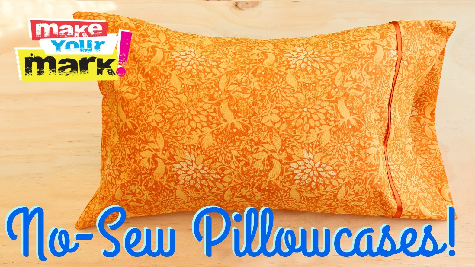How to: No-Sew Pillowcases