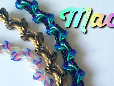 Maci bracelet~rainbow loom bracelet tutorial~