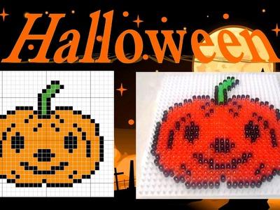 Perler.Hama Beads Halloween - Pumpkin - Calabaza