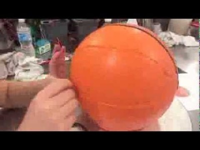 The Making of a Carved Basketball Cake Timelapse