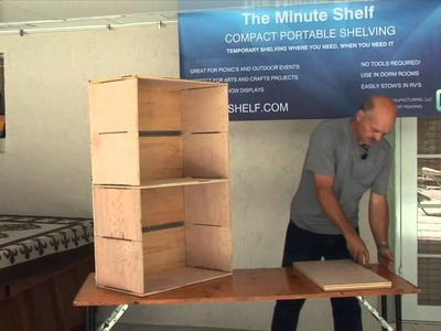 The Minute Shelf - Compact Portable Shelving