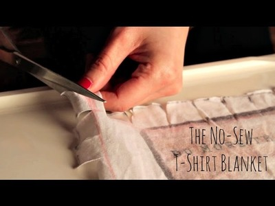 "The ""No-Sew"" T-Shirt Blanket Tutorial"