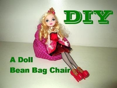 DIY: How To Make A Doll BeanBag Chair. Como Fazer Um Puff Para Bonecas