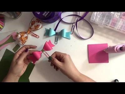 DIY Paper Clip Bows