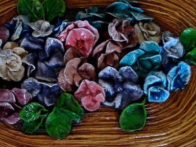 FLORES DE MASA DE PAPEL - PAPER MASS FLOWERS