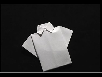 Origami make a paper shirt