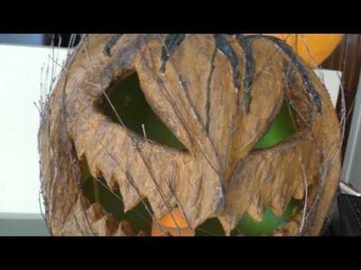 Pumpkin rot paper mache