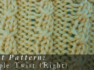 Simple Twist  { Knit }