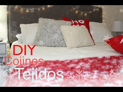 DIY COJINES TEJIDOS. CROCHET PILLOWS. COJINES DECORATIVOS