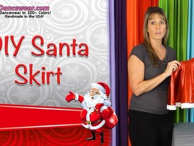 DIY Santa Skirt.Christmas Skirt Tutorial
