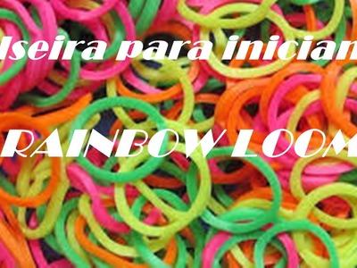 Pulseira para iniciantes fina Rainbow Loom !!
