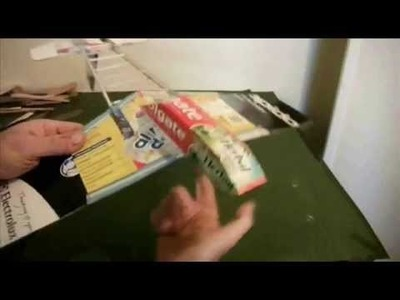Building a cardboard & bamboo glider with firework rocket motor