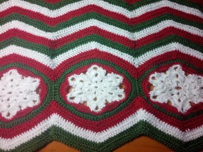 Crochet blanket Ripple christmas