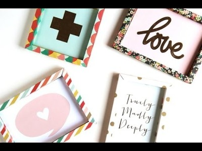 Diy 3D Shadow Box Paper Frame